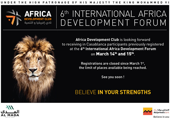 6TH INTERNATIONAL AFRICA DEVELOPMENT FORUM