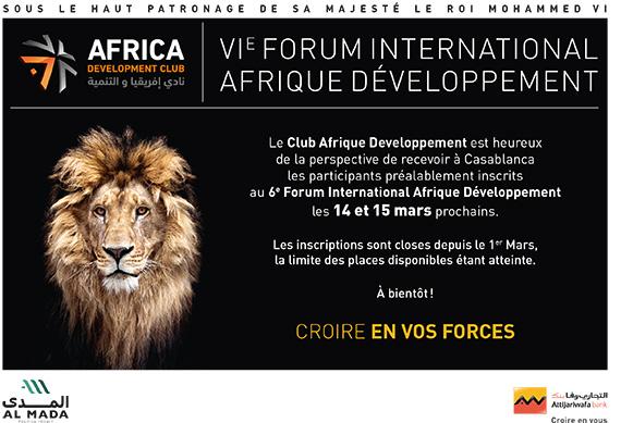 6E Forum International Afrique Développement