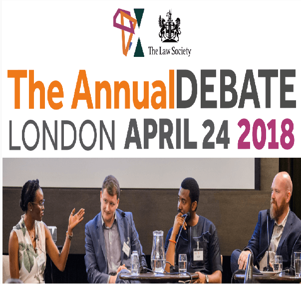 The Annual Debate London April 24 / 2018